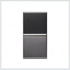 Выключатель 1-клавишный 1 модуль Антрацит ABB Zenit - N2101 AN
