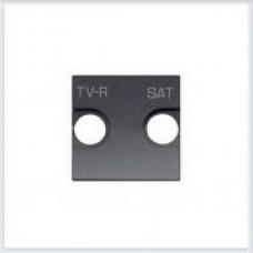 Накладка для TV-R, SAT розетки, 2 модуля Антрацит ABB Zenit - N2250.1 AN