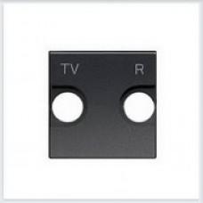 Накладка для TV-R розетки, 2 модуля Антрацит ABB Zenit - N2250.8 AN