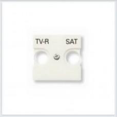 Накладка для TV-R, SAT розетки, 2 модуля Белый ABB Zenit - N2250.1 BL
