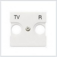 Накладка для TV-R розетки, 2 модуля Белый ABB Zenit - N2250.8 BL