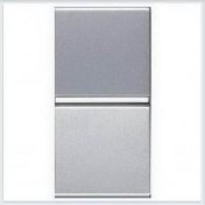 Выключатель 1-клавишный 1 модуль ABB Zenit серебро - N2101 PL
