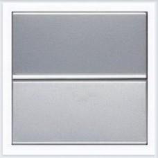 Выключатель 1-клавишный 2 модуля ABB Zenit серебро - N2201 PL