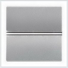 Переключатель 1-клавишный 2 модуля ABB Zenit серебро - N2202 PL