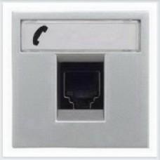 Накладка 1-я тел/комп розетки ABB Zenit серебро - N2218.1 PL
