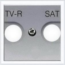 Накладка для TV-R/SAT розетки, 2 модуля ABB Zenit серебро - N2250.1 PL
