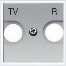 Накладка для TV-R розетки, 2 модуля ABB Zenit серебро - N2250.8 PL