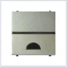 Клавиша 1-я с окошком 2 модуля ABB Zenit шампань - N2201.9 CV