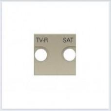 Накладка для TV-R/SAT розетки, 2 модуля ABB Zenit шампань - N2250.1 CV
