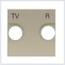 Накладка для TV-R розетки, 2 модуля ABB Zenit шампань - N2250.8 CV