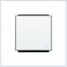 ABB Niessen Клавиша для 1-клав. мех. с символом и линзой серия SKY цвет альпийский белый - 8504.3 BL