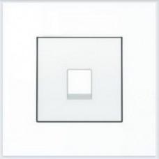 ABB Niessen Накладка для телекоммуникационных розеток серия SKY цвет альпийский белый - 8517 BL