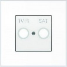 ABB Niessen Накладка для TV-R-SAT розетки серия SKY цвет альпийский белый - 8550.1 BL