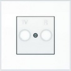 ABB Niessen Накладка для TV-R розетки серия SKY цвет альпийский белый - 8550 BL