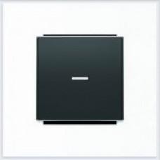 ABB Niessen Клавиша для 1-клав. мех. с линзой серия SKY цвет чёрный бархат - 8501.3 NS