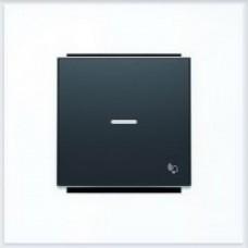 ABB Niessen Клавиша для 1-клав. мех. с символом и линзой серия SKY цвет чёрный бархат - 8504.3 NS