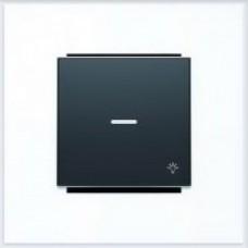 ABB Niessen Клавиша для 1-клав. мех. с символом и линзой серия SKY цвет чёрный бархат - 8504.4 NS