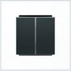 ABB Niessen Клавиша для 2-клавишных механизмов серия SKY цвет чёрный бархат - 8511 NS