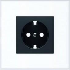 ABB Niessen Накладка для розетки серия SKY цвет чёрный бархат - 8588.9 NS