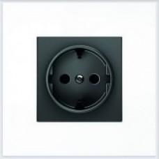 ABB Niessen Накладка для розетки серия SKY цвет чёрный бархат - 8588 NS