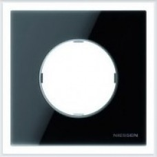 ABB Niessen Рамка 1-постовая серия SKY Moon цвет стекло чёрное - 8671 CN