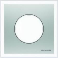 ABB Niessen Рамка 1-постовая серия SKY Moon цвет нержавеющая сталь - 8671 OX
