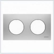 ABB Niessen Рамка 2-постовая серия SKY Moon цвет нержавеющая сталь - 8672 OX