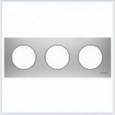 ABB Niessen Рамка 3-постовая серия SKY Moon цвет нержавеющая сталь - 8673 OX