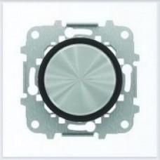 ABB Niessen Заглушка с суппортом серия SKY Moon кольцо чёрное стекло - 8600 CN