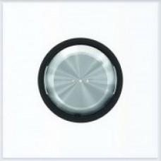ABB Niessen Клавиша для 1-клавишных механизмов с линзой серия SKY Moon кольцо чёрное стекло - 8601.3 CN