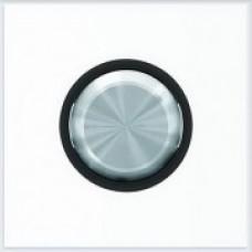 ABB Niessen Клавиша для 1-клавишных механизмов серия SKY Moon кольцо чёрное стекло - 8601 CN