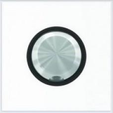 ABB Niessen Накладка для кабельного вывода серия SKY Moon кольцо чёрное стекло - 8607 CN