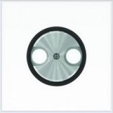 ABB Niessen Накладка для TV-R розетки серия SKY Moon кольцо чёрное стекло - 8650 CN