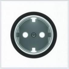ABB Niessen Накладка для розетки серия SKY Moon кольцо чёрное стекло - 8688.9 CN