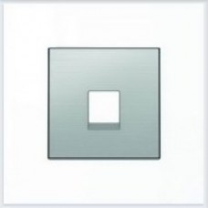 ABB Niessen Накладка для телекоммуникационных розеток серия SKY цвет нержавеющая сталь - 8517 AI