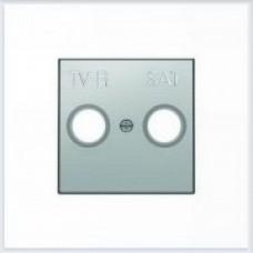 ABB Niessen Накладка для TV-R-SAT розетки серия SKY цвет нержавеющая сталь - 8550.1 AI
