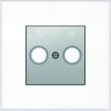 ABB Niessen Накладка для TV-R розетки серия SKY цвет нержавеющая сталь - 8550 AI