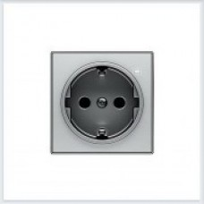 ABB Niessen Накладка для розетки серия SKY цвет нержавеющая сталь - 8588 AI