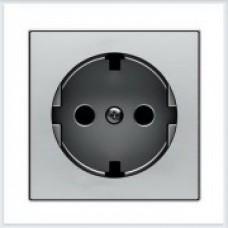 ABB Niessen Накладка для розетки серия SKY цвет нержавеющая сталь - 8588.9 AI