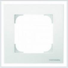 ABB Niessen Рамка 1-постовая серия SKY цвет альпийский белый - 8571 BL