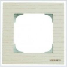ABB Niessen Рамка 1-постовая серия SKY цвет дерево белый ясень - 8571 FR