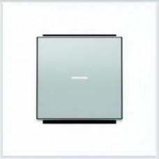ABB Niessen Клавиша для 1-клав. мех. с линзой серия SKY цвет серебристый алюминий - 8501.3 PL