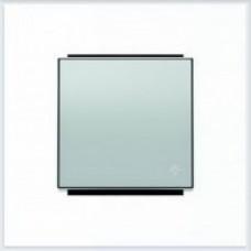 ABB Niessen Клавиша для 1-клав. мех. с символом серия SKY цвет серебристый алюминий - 8504.2 PL