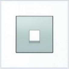 ABB Niessen Накладка для телекоммуникационных розеток серия SKY цвет серебристый алюминий - 8517 PL