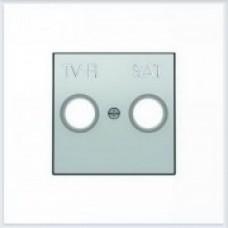 ABB Niessen Накладка для TV-R-SAT розетки серия SKY цвет серебристый алюминий - 8550.1 PL
