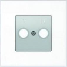 ABB Niessen Накладка для TV-R розетки серия SKY цвет серебристый алюминий - 8550 PL