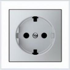 ABB Niessen Накладка для розетки серия SKY цвет серебристый алюминий - 8588.9 PL