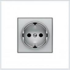 ABB Niessen Накладка для розетки серия SKY цвет серебристый алюминий - 8588 PL