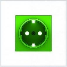 ABB Niessen Накладка для розетки серия SKY цвет зелёный - 8588 VD