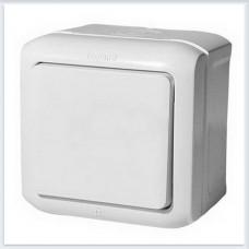 Выключат 1-клавишный IP44 10А цвет белый Legrand Quteo Арт. 782300